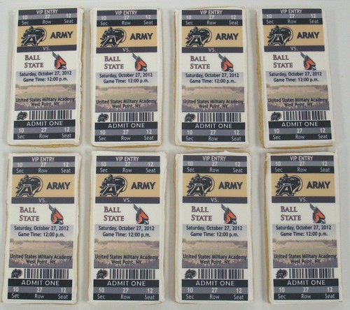 [Image from Flickr]:Ball State Ticket cookies
