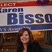 Karen Bisso at her campaign headquarters at Merons Restaurant in Plattsburgh. Photo: Mark Kurtz