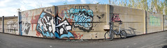 Ghetto Bike (_Whisky_) Tags: panorama bike bici photomerge murales pescara graziella