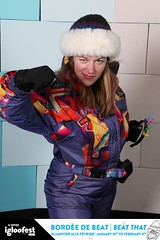 14ige1443 (onesieworld) Tags: girls party ski silly fashion one outfit shiny neon retro suit 80s piece nylon catsuit snowsuit onesie