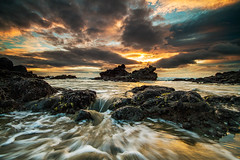 Breach (robjdickinson) Tags: ocean newzealand seascape sunrise canon caverock christchurchsumner