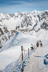 (Maya Lucchitta) Tags: snow france mountains alps chamonix montblanc skiers aiguilledumidi