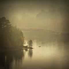 Mist on Affric (Roksoff) Tags: mist reflection water fog landscape scotland naturereserve birch larch glenaffric scottishhighlands scotspine 70200mmf28 caledonianforest leefilters lochaffric lochbeinnamheadhoin annich nikodd800