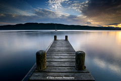 (Claire Hutton) Tags: wood uk longexposure sunset lake motion colour water clouds lens pier boat wooden movement jetty smooth lakedistrict wideangle symmetry le cumbria symmetrical poles posts windermere silky ndfilter lae ndgrad 10stop leefilters 10stopper sonya6000 samyang12mm