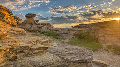 It Came With A Vision (Wayne Stadler Photography) Tags: park travel camping sunset canada rock rural countryside afternoon country places roadtrip explore alberta sacred aboriginal prairies prehistoric formations writingonstone provincial writings southernalberta