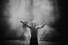 Happiness... (privizzinis passion photography) Tags: light boy summer people blackandwhite texture water monochrome sunshine childhood children outdoors child outdoor joy happiness sprinkler freelensed