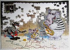 Jail Mouse Rock (Alex) (Leonisha) Tags: puzzle unfinished jigsawpuzzle