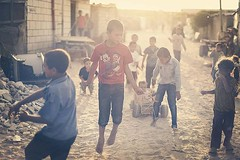 Group Children's playing in a street's Khan younes city south Gaza yesterday (TeamPalestina) Tags: reflection canon landscape hope landscapes photo am nice nikon photographer natural live palestine innocent blockade gaza freepalestine palestinian occupation
