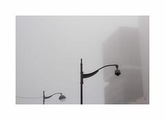 Brouillard  Tolbiac (hlne chantemerle) Tags: panorama paris monochrome fog grey gris faades vue paysages brouillard ciels urbain tolbiac btiments mobilierurbain photosderue