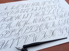 Estudiant a R. Stirling (xelo garrigs) Tags: calligraphy copperplate caligrafa inglesa calligraphie calligrafia fotosenstreaming