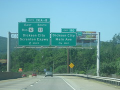 I-81 Exits for Dickson City (Random Retail) Tags: road signs pa interstate exit i81 us6 us11