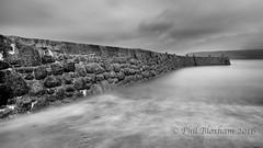 Sennen Breakwater (Phil Bloxham) Tags: longexposure sea bw seascape beach stone canon mono coast cornwall leefilters bigstopper
