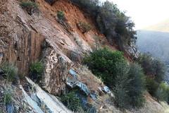 Sierra National Forest (lotos_leo) Tags: california travel mountains nature landscape outdoor yosemite mountainside sierranationalforest bluerocks   road140  centralyosemitehighway crossamerica2015