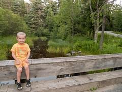 P1100365 (150hp) Tags: county door bridge family boy cute creek happy bay young panasonic xavier sands wi sturgeon shivering lx3