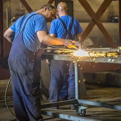 Plasma snijden (G. Warrink) Tags: architecture construction industrial steel welding engineering watchtower appelscha bosberg heuvelmanibis
