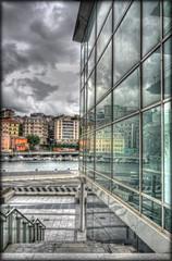 Liguria N4  -  (Savona) (celestino2011) Tags: architettura vetri riflessi specchio savona nuvole citt mare