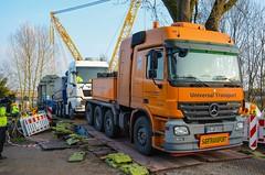 Mercedes Benz Actros 4160 MP2 (Actros_4160) Tags: truck mercedes transport mp3 lorry universal titan heavy v8 slt lkw mp2 haulage schwertransport 4160 4165 nooteboom tieflader schwerlast goldhofer