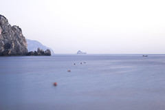 A tale of Corfu island [explored] (sbouboux) Tags: longexposure blue sea white rock grey golden hellas greece hour limestone kerkyra goldenhour   palaiokastritsa  sbouboux