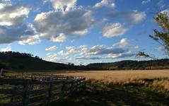 Tuncester/Cubawee (dustaway) Tags: winter landscape shadows australia nsw fields australianlandscape cloudscape lismore ruralaustralia northernrivers rurallandscape cattleyards afternoonlandscape tuncester