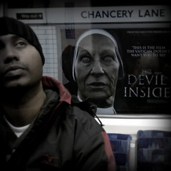 The Devil Inside (-hndrk-) Tags: uk england man london canon underground subway metro candid movieposter thetube s100 thedevilinside hndrk nunonyourback