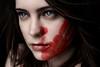A Slap in the Face (Lou Bert) Tags: red portrait art girl face self print paint hand makeup bitch slap laurenbatesphotography