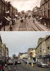 Blackboy Hill 1920s (?) and 2012 (ricksphotos101) Tags: bristol then now thenandnow blackboyhill