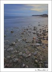 Piedras ( Marco Antonio Soler ) Tags: sunset sea espaa beach landscape atardecer mar spain nikon mediterranean mediterraneo playa iso alicante jpg 12 seda febrero hdr 2012 piedras nwn alacant d80 urbanova