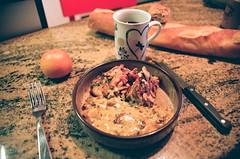 ... (icomewhenieatcaponata) Tags: orange france film kitchen coffee analog dinner 35mm canon bread eos fuji dish superia salmon iso baguette 400 mug series analogue 300 lorraine metz  xtra    coracoracora peppopeppo puddicinu sixoclockdinner