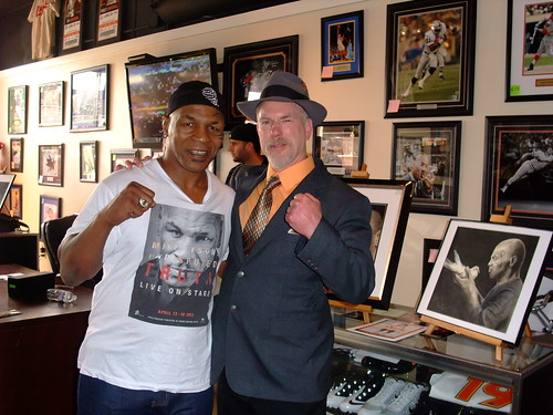 Mike Tyson and myself at ManCave Memorabilia