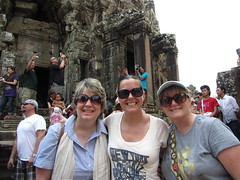 "Angkor buddies - Chris, Deb, and Diana <a style=""margin-left:10px; font-size:0.8em;"" href=""http://www.flickr.com/photos/46768627@N07/6916831510/"" target=""_blank"">@flickr</a>"