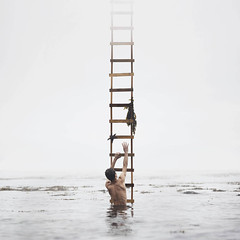 (brianoldham) Tags: ocean new boy mist seaweed water fog clouds death climb lift starfish climbing unknown ladder lifted newworld davidtalley sarahannloreth brianoldham robbycavanaugh