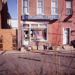 Nutritional Foods (Soul Strut) Tags: signs pennsylvania slidefilm mamiya6 pottstown fujiastia100 epsonv700