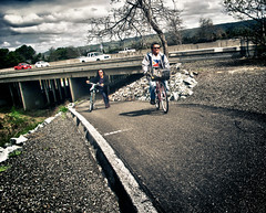 Mother and Father (MannyAcosta) Tags: road coyote family dan rain weather bike bicycle creek michael flickr hill hills jordan will biking wilcox clint eastwood rivendell randonneur sfrandonneur poluaire