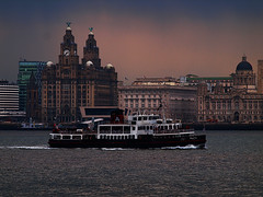 Royal Iris. Mersey Ferry and The Three Graces. Liverpool (The world as eye see it. Mike Fahy.) Tags: 3 man building heritage liverpool river island three waterfront liver cunard mersey graces merseyside seafaring scouse flickrstruereflection1 flickrstruereflection3