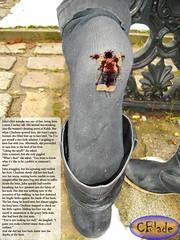 Her Heel Cusion (gtsblade) Tags: foot sock squish crush giantess gts