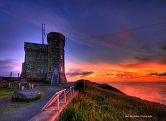 cabot tower at sunrise (Rex Montalban) Tags: sunset sunrise newfoundland colours stjohns hdr signalhill cabottower hss rexmontalbanphotography sliderssunday