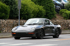 Porsche 959 (Alex Nunez) Tags: auto street classic sports car vintage automobile driving connecticut ct exotic german porsche coupe supercar carshow newcanaan 959 caffeineandcarburetors