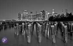 Brooklyn Bridge Park (Blue_gsx) Tags: new york city nyc bridge reflection brooklyn night queens 1635mm