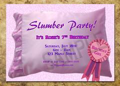 Slumber bday (DigitalGreetings1) Tags: birthday party purple slumber invitation sleepover