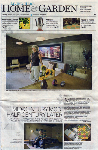 Sacramento Bee article: June 19, 2010 regarding first-ever Sacramento Mid-Century Modern Home Tour