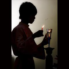 before Mass [ EXPLORED ] (-clicking-) Tags: lighting light people church silhouette catholic candle faith religion pray vietnam mass backlighting misa