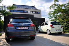 Opel duo (Didier Ilsen) Tags: insignia opel corsa