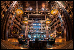 The best hotel lobby in all of Walt Disney World (Adam Hansen) Tags: disney fisheye waltdisneyworld wildernesslodge disneyhotel