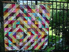 Parisville Values (JulieFrick) Tags: wall quilt 15 17 16 20 value patchwork 18 bos 19 2012 values parisville hsts halfsquaretriangles tulapink 60blocksofsummer