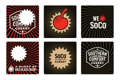 Southern Comfort Bold Black Cherry (designcue) Tags: red black cherry design icon i