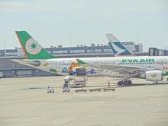 Eva Air Kitty Aircraft!! (Phreddie) Tags: tokyo airport eva air kitty haneda sirplane 120718