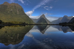 Milford Sound (4) (1982Chris911 (Thank you 1.250.000 Times)) Tags: new newzealand reflection nature canon landscape eos mirror day cloudy clear zealand 7d milfordsound hdr highdynamicrange eighthwonderoftheworld landscapephotography canonphotography hdrphotography hdrpictures eos7d canoneos7d canon7d krieglsteiner christiankrieglsteiner christiankrieglsteinerphotography