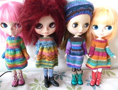New knitted dresses for a girls