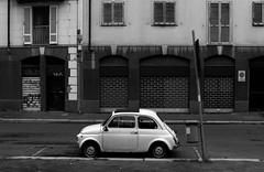 old style (Luca Enrico Sironi) Tags: street urban blackandwhite milan fiat milano 500 bianconero