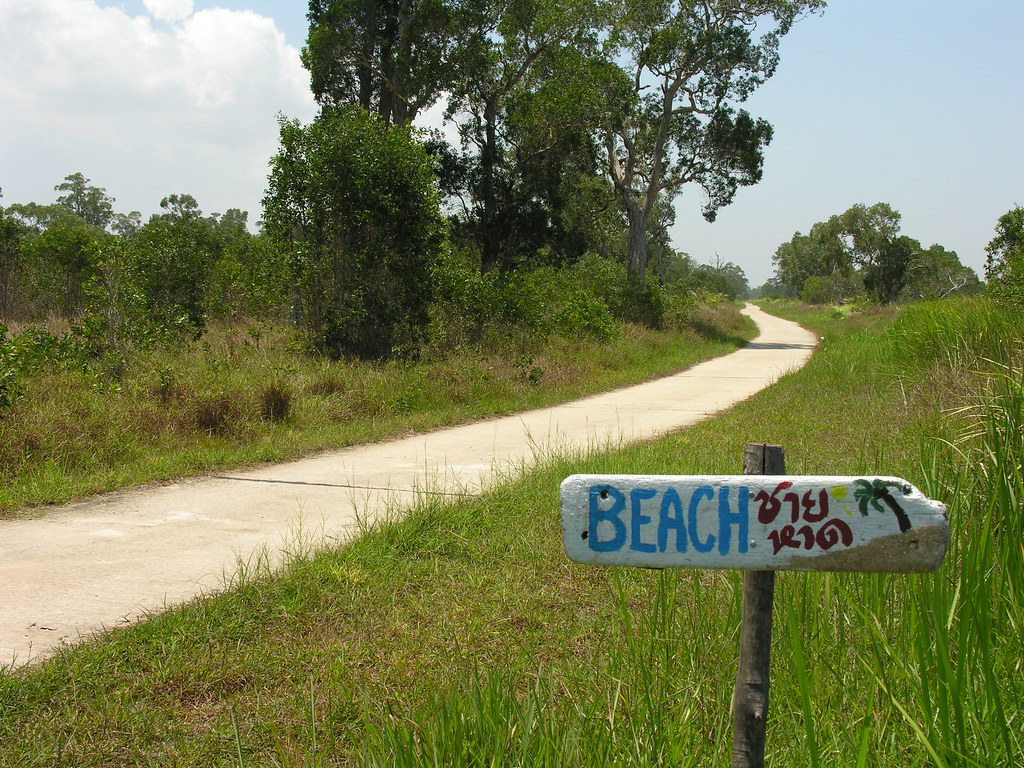This way to the beach, Ko Phra Thong, Southern Thailand